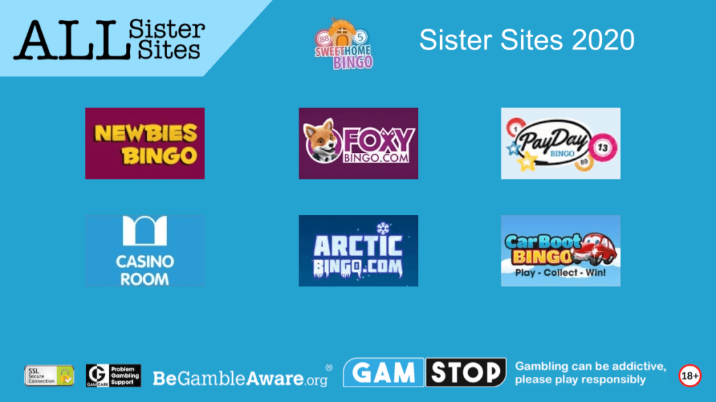 sweet home bingo sister sites